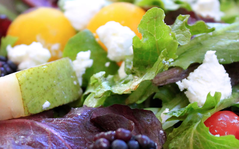 Pear and Goat Cheese Salad with Apple Vinaigrette